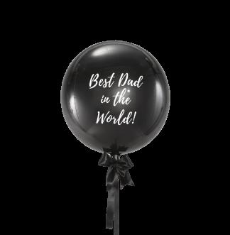 בלון כדור שחור מטאלי
