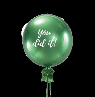 בלון כדור ירוק מטאלי