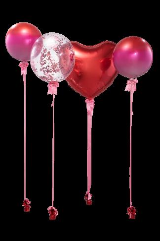 סידור בלונים יום האהבה