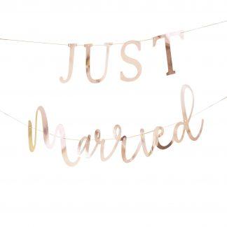 שלט אותיות חתונה JUSR MARRIED