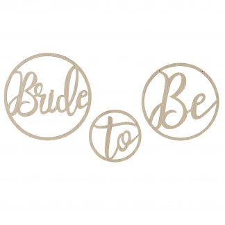 שלט למסיבת רווקות מעץ BRIDE TO BE בסגנון בוהו