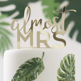 טופר לעוגה זהב חתונה