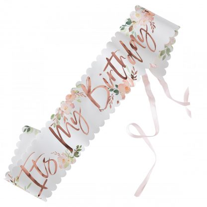 סרט לגוף יום הולדת פרחוני