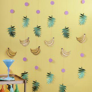 וילון בננות טרופי