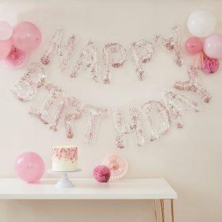 בלוני אותיות יום הולדת שקופים