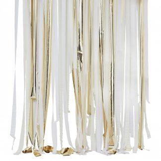 וילון פרחים זהב