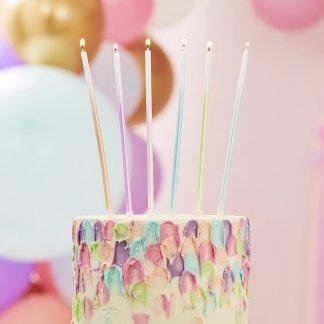 נרות לעוגה צבעי פאסטל