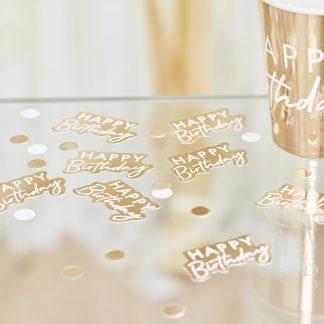 קונפטי יום הולדת זהב
