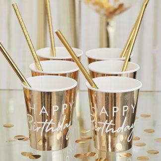 כוסות זהב יום הולדת