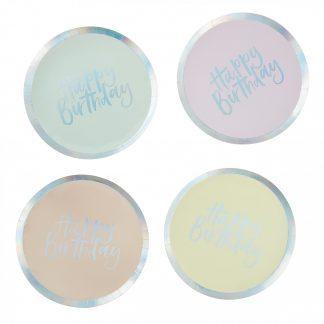 צלחות פאסטל ליום הולדת