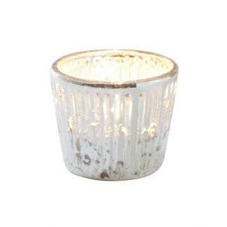 כלי זכוכית לנר בצבע זהב