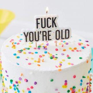 נר יום הולדת מצחיק