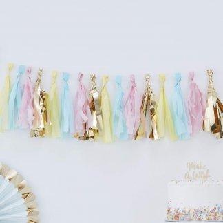 שרשרת פרנזים צבעי פאסטל