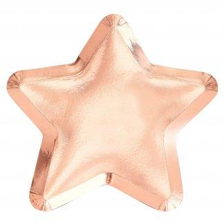 צלחות כוכב רוז גולד