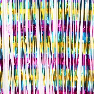 וילון פרנזים צבעוני