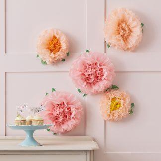 פרחים מנייר משי