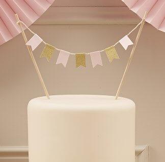 שרשרת דגלונים לעוגה קישוט עוגה