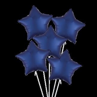 זר בלוני כוכבים כחול נייבי