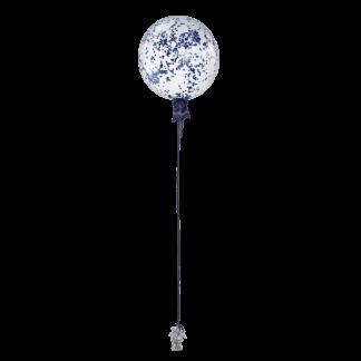 בלון עם קונפטי כחול נייבי
